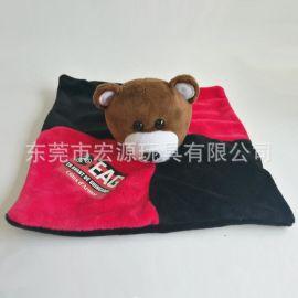 毛绒安抚巾玩偶/婴儿口水巾可入口/新生儿母婴用品/来图厂家定做