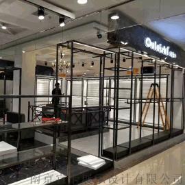 商场服装展示架展示柜高低流水台上墙架中岛流水台正挂侧挂异形架点挂