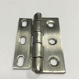 斜角工業設備鉸鏈異形機械設備合頁不鏽鋼304拉絲圓長孔鉸鏈