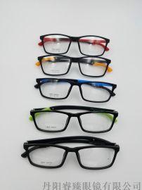 高质量 TR90运动眼镜腿折叠可调节眼镜框全框男女款眼镜架近视眼镜框M6003