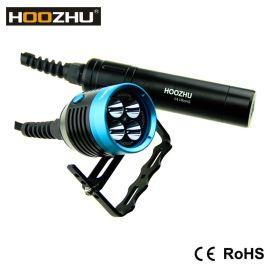 HOOZHU鸿珠 HU33 便携式潜水灯CREE XM-L U2*4 手提式 潜水手电筒 最大4000流明 强光潜水手电筒 LED手电筒