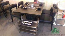 运达来家具10月新款火锅桌椅 大理石火锅桌 餐桌椅定制厂家