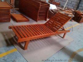 休闲沙滩躺椅 休闲桌椅 实木餐桌椅