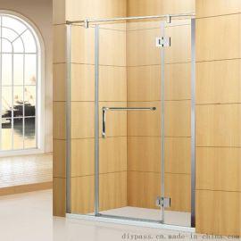 鼎派衛浴 DIYPASS BP-0206 304不鏽鋼工程淋浴屏風