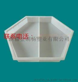 边对边隔板六边形塑料模具用于水渠护坡建设