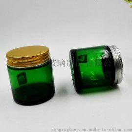 东宇玻璃绿色玻璃罐膏霜瓶蜡烛罐