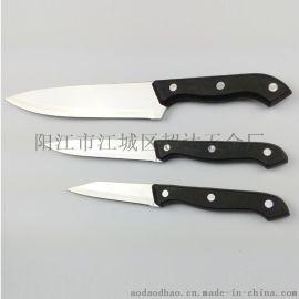 厂家供应厨房三件套 礼品套刀 厨师刀 水果刀 果皮刀