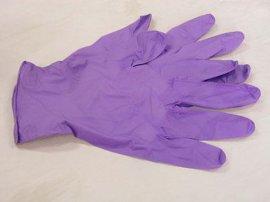 紫色丁腈手套