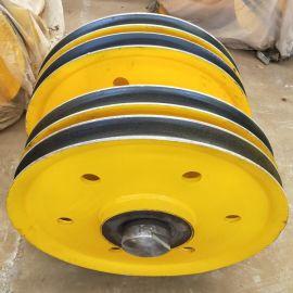 G860起重机滑轮组  滑轮组槽底500 双轮定滑轮 省力动滑轮 原厂哈瓦洛轴承