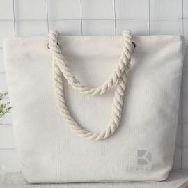 棉绳帆布袋 棉布手提袋 购物袋 时尚棉布背包