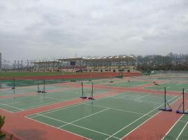 硅PU蓝球场施工绿色环保水性防滑性硅PU羽毛球场网球场硅PU运动场地