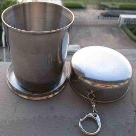 304不锈钢旅行户外折叠杯子 便携伸缩水杯水壶水瓶酒杯防漏旅游