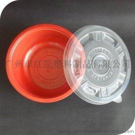 紅黑塑料碗,環保塑料碗