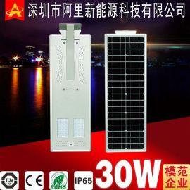 阿里新能源30W一体化太阳能路灯新农村建设