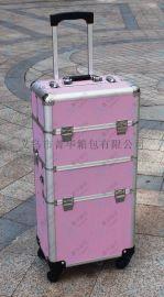 萬向輪杆箱行李箱旅行箱拉杆包大化妝箱鋁合金行李箱