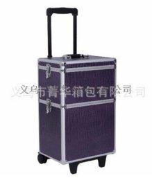 厂家直销万向轮拉杆行李箱手提包旅行箱大铝合金化妆箱JH573