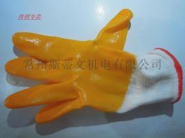 耐油手套 机械工用手套 半挂胶手套 单面胶手套 耐磨 防水防护