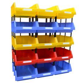周转箱收纳盒零件盒螺丝盒物流箱塑料组合式收纳箱加厚斜口元件盒