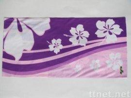 T-2022_粉紫底扶桑花
