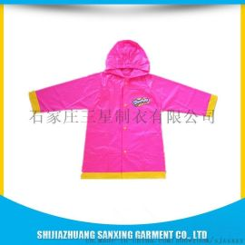 生产PVC儿童卡通印图雨衣