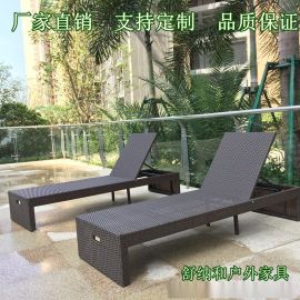 舒纳和专业生产PE编藤沙滩椅休闲折叠椅纯手工编织