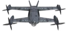 倾转旋翼矢量固定翼无人机,GPS航模,飞行器