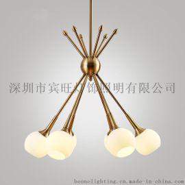 后现代简约客厅玻璃吊灯 个性创意餐厅卧室书房服装店展厅吸吊灯
