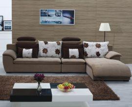 工厂供应酷可斯客厅实木沙发 转角休闲布艺客厅沙发