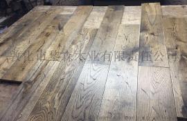 橡木實木地板自然手工做舊日本風格18*150mm啞光硬木地板