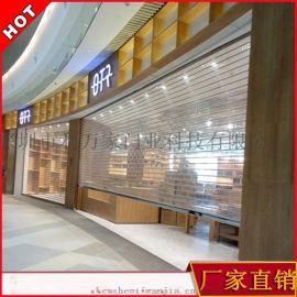 订制水晶卷帘 电动透明商场防盗防尘洁净门 水晶折叠门