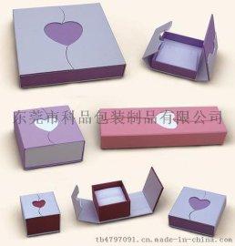 高档礼品盒 饰品包装盒 绒布烫金包装盒