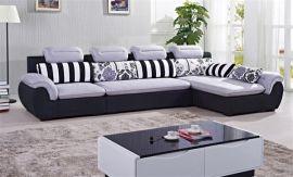 酷可斯客厅家具L形转角布艺沙发组合可拆