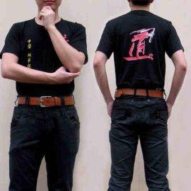 圆领双节棍短袖T恤衫 二节棍衣服训练半袖汗衫表演训练两截棍男女