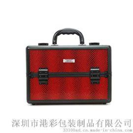 韓式專業手提化妝箱pv箱子帶鎖多層大號大容量紋繡箱美容美甲工具箱廠家生產批發
