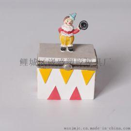 商务礼品 小丑桌面摆件 小丑树脂工艺品 resin 首饰收纳盒
