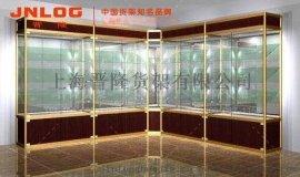 上海晋隆展柜定制玻璃展柜,钛合金展柜