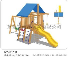 木质塑料滑梯