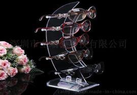 定做亚克力创意眼镜展示架支架陈列架 创意太阳眼镜墨镜展示支架 展示柜厂家直销批发