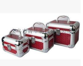 菁華銀色竹殼圓角箱女士化妝箱專用珠寶首飾品收納箱JH-082