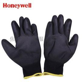 霍尼韦尔Honeywell 超值经济款PU涂层涤纶工作手套黑色WE210CN-09