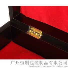 恒明包装红色亮光油漆名贵药材礼品木盒
