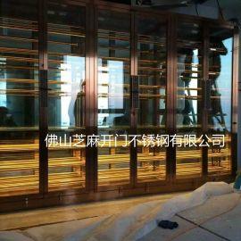 不锈钢展示酒柜 出厂价定制钢化玻璃不锈钢酒柜