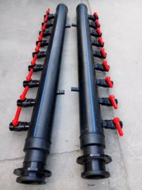 加工定制PE焊制集分水器(地源热泵专用管件)
