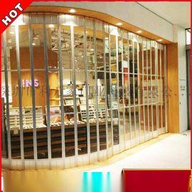 深圳利万家 透明水晶侧推折叠门 铝合金边框 专业定制