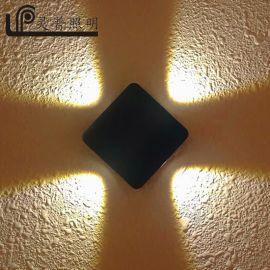 LED壁燈防水戶外陽臺露臺燈 十字星光裝飾壁燈 科銳COB壓鑄鋁歐式