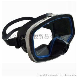 潜水硅胶面镜 方形面镜 潜水用品 不锈钢潜水面镜 硅胶面罩