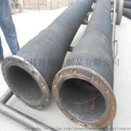 祥沣橡塑大口径钢丝缠绕 黑色橡胶 埋吸胶管
