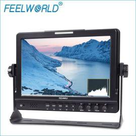 10.1寸PS屏1280x800 摄影、导演专业高清彩色液晶监视器带辅助对焦、直方图、伪色彩、曝光提示 FW1018SP