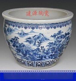 厂家定制青花瓷一米大缸 开业礼品摆设陶瓷大缸