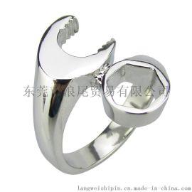 铸造戒指 外贸饰品 速卖通爆款 扳手戒指 欧美时尚男士个性